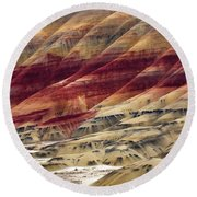 Painted Hills Contour Round Beach Towel