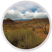 Painted Hills Landscape In Central Oregon Round Beach Towel