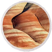 Painted Hills Stripes Round Beach Towel