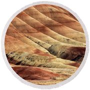 Painted Hills Textures Round Beach Towel