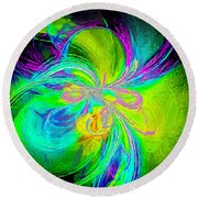 Painted Illusion Round Beach Towel