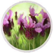Painted Lavender By Kaye Menner Round Beach Towel
