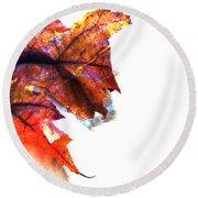 Painted Leaf Series 1 Round Beach Towel