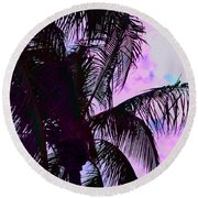 Painted Palms 4 Round Beach Towel
