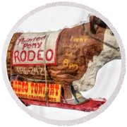 Painted Pony Rodeo Lake George Round Beach Towel
