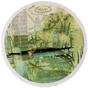 Painted Reflections Round Beach Towel