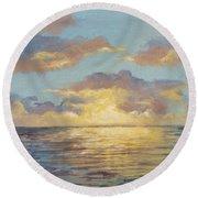 Painted Sunset Round Beach Towel
