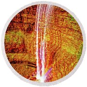 Painted Tews Falls					 Round Beach Towel