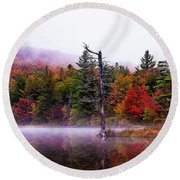Painted Trees Round Beach Towel
