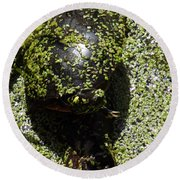 Painted Turtle Camouflague Round Beach Towel