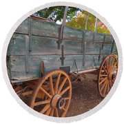 Painted Wagon Round Beach Towel