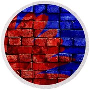 Painted Wall Round Beach Towel