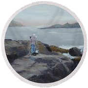 Painter Of The Sea - Art By Bill Tomsa Round Beach Towel