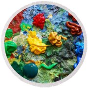 Painters Palette Round Beach Towel