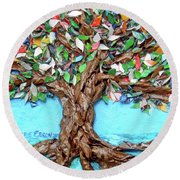 Painters Palette Of Tree Colors Round Beach Towel