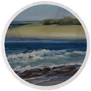 Painting Happy Valley Caloundra Qld Plein Air Painting Round Beach Towel