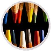 Painting Pencils Round Beach Towel