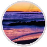 Painting The Ocean Round Beach Towel