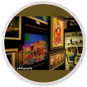 Paintings Collage Round Beach Towel