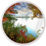 Paints Of Fall Round Beach Towel