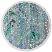Paisley Trio 3 Round Beach Towel
