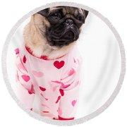 Pajama Party Round Beach Towel