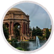 Palace Of Fine Arts -1 Round Beach Towel