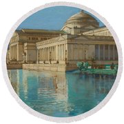 Palace Of Fine Arts Round Beach Towel
