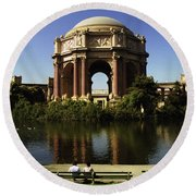 Palace Of Fine Arts Sf 2 Round Beach Towel