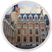 Palace Of Gruuthuse In Brugge Round Beach Towel