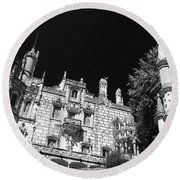 Palace Of Regaleira Round Beach Towel