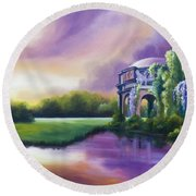 Palace Of The Arts Round Beach Towel