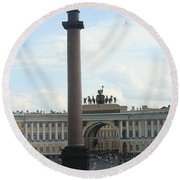 Palace Place - St. Petersburg Round Beach Towel