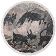 Palatki Pictoglyph Round Beach Towel