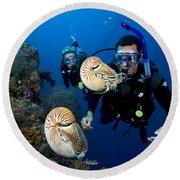 Palau Underwater Round Beach Towel
