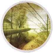 Pale Reflections Of Life Round Beach Towel