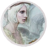 Pale Steampunk Round Beach Towel