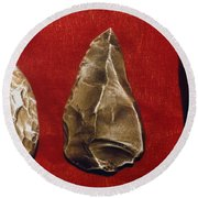Paleolithic Tools Round Beach Towel