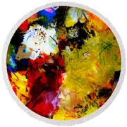 Palette Abstract Square Round Beach Towel