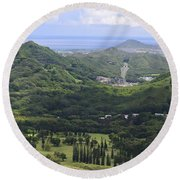 Pali Across Round Beach Towel