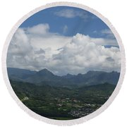 Pali Overlook Round Beach Towel