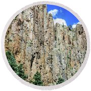 Palisades - Cimarron Canyon State Park - New Mexico Round Beach Towel