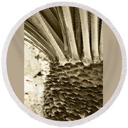 Palm Abstraction Round Beach Towel