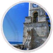 Palm Beach Clock Tower  Round Beach Towel