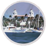 Palm Beach Middel Bridge Round Beach Towel