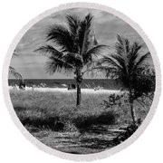 Palm Beach Road Trip Round Beach Towel