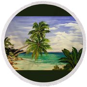 Palm Beach Round Beach Towel