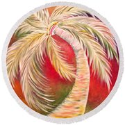 Palm Diggity Round Beach Towel