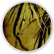 Palm Fronds Are Green Round Beach Towel