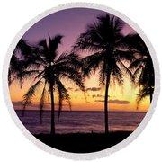 Palm Horizons Round Beach Towel